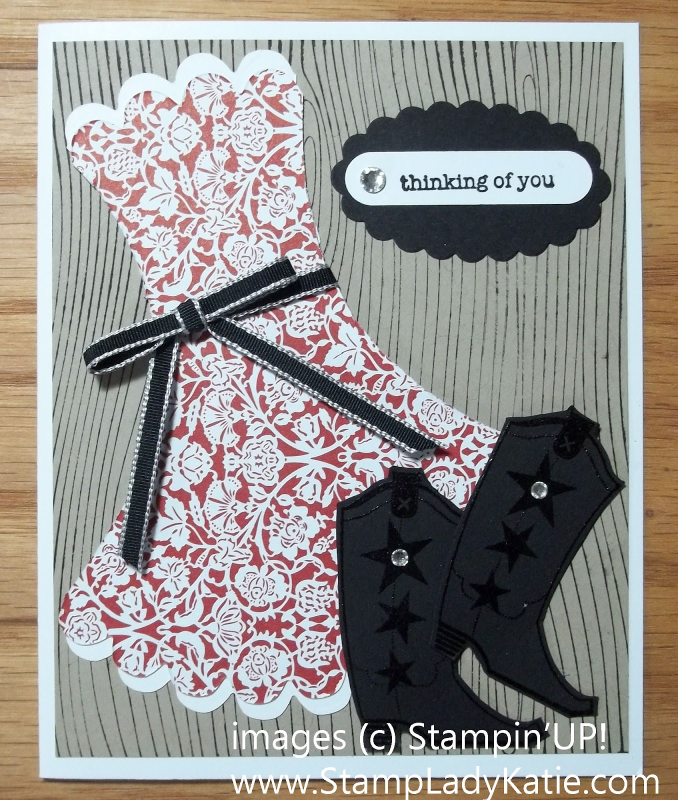 StampLadyKatie.com: Bootiful Dress Template Card