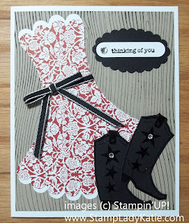 Dress Template Card made with Stampin'UP! Set: Bootiful.