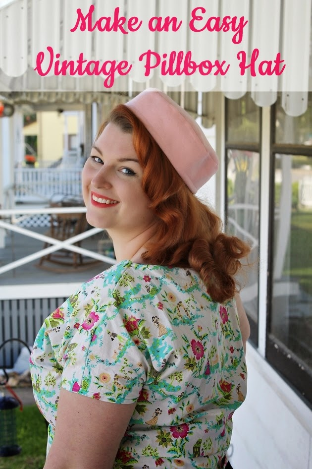 how to make an easy vintage pillbox hat with Va-Voom Vintage