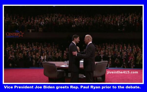 Vice President Joe Biden greets Rep. Paul Ryan (R-WI)