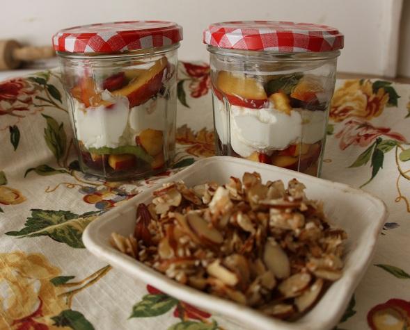 we eat. happy.: june fruit with greek yogurt & almonds ...