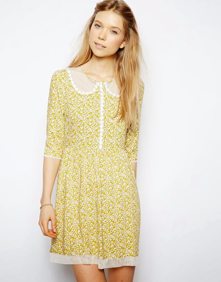 yellow ditsy dress