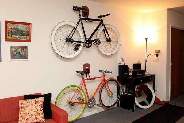 自転車の 自転車 スタンド 自作 屋外 : Wall Hanging Bike Storage Racks
