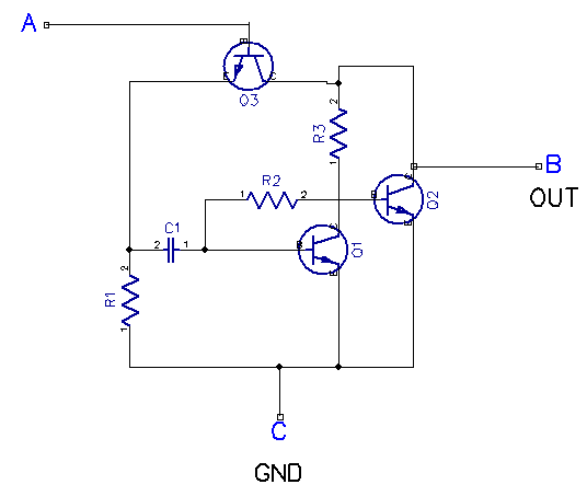 simple 5 transistor am receiver circuit  using equivalent