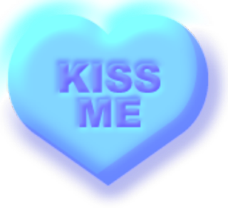 Kiss Me Conversation Candy Heart Printable Image