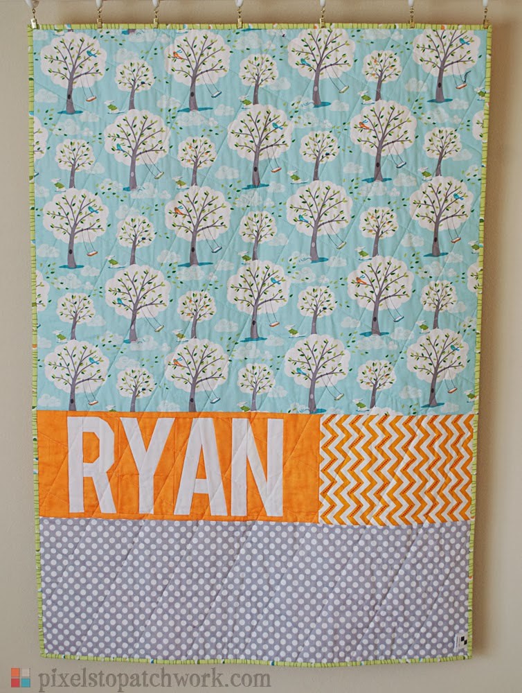 personalized quilt back