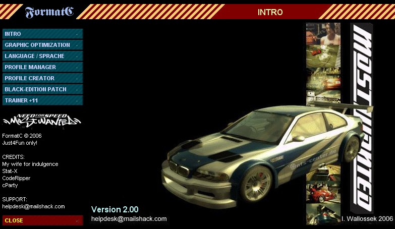 Hi Friends Enjoy Downloading Trainers Saved Games For NFS Most Wanted