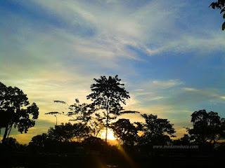 Senja di Taman Cadika Pramuka Medan