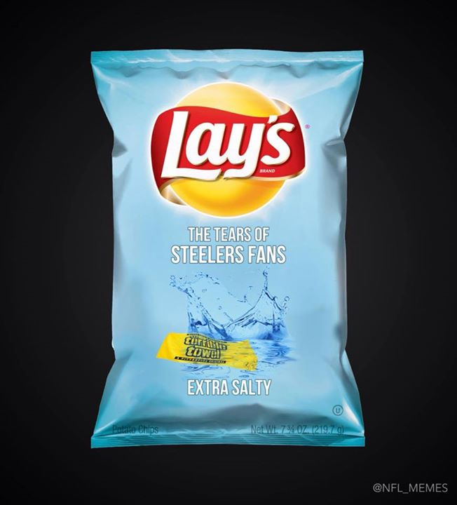 lay's, the tears of steelers fans.- #lays,#tears, #SteelersFans, #steelershaters, #extrasalty,#salty, #terribletowel,
