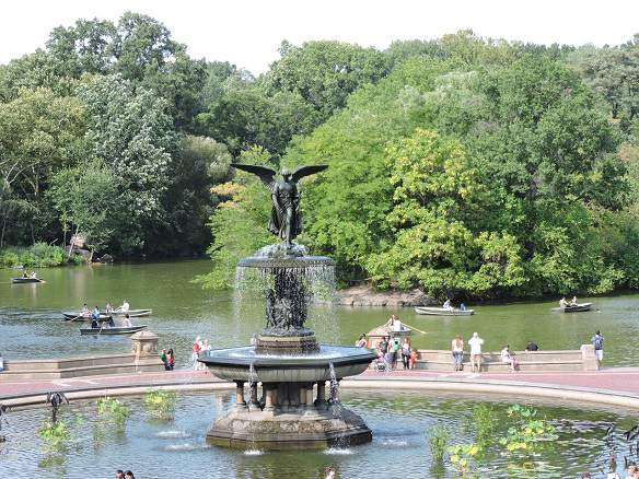Bethesda Fountain by Central park pedicab Rickshaw Tours