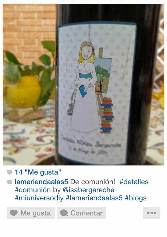 botellas de vino con etiquetas mi universo diy primera comunión