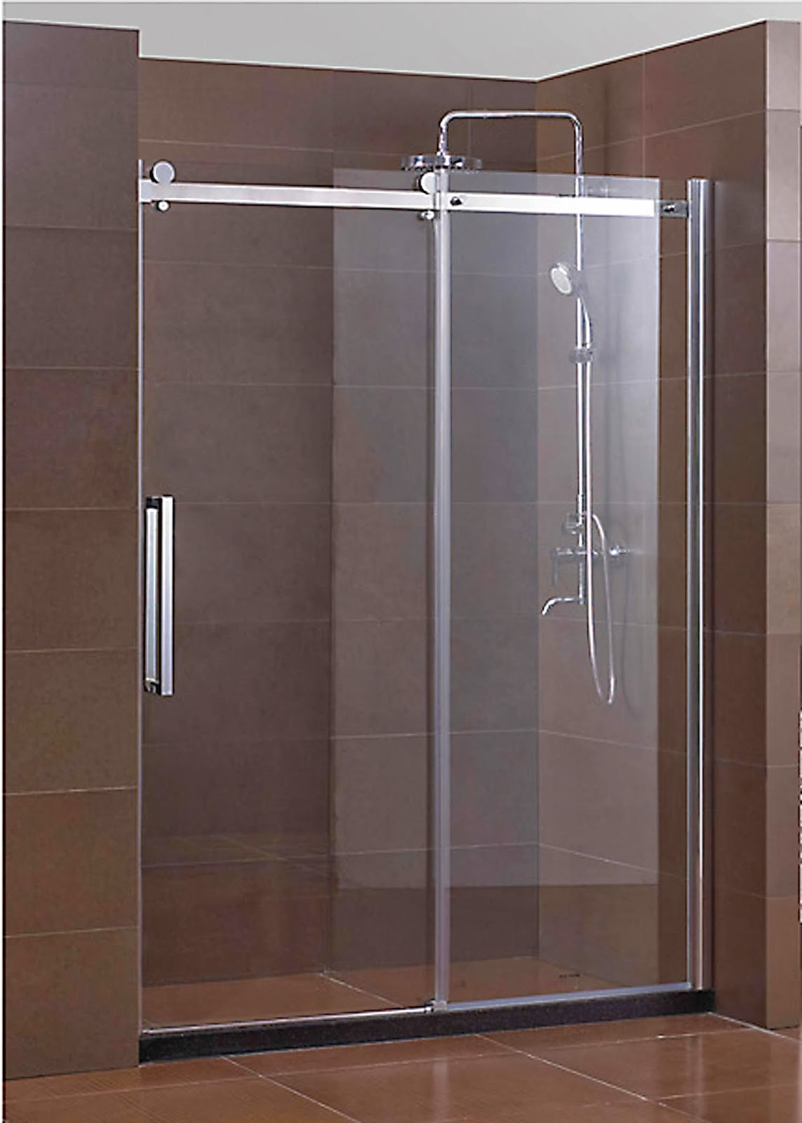 Palmers glass frameless shower screens could give you Sliding glass shower doors