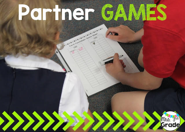 Partner games to keep students practicing, and working hard