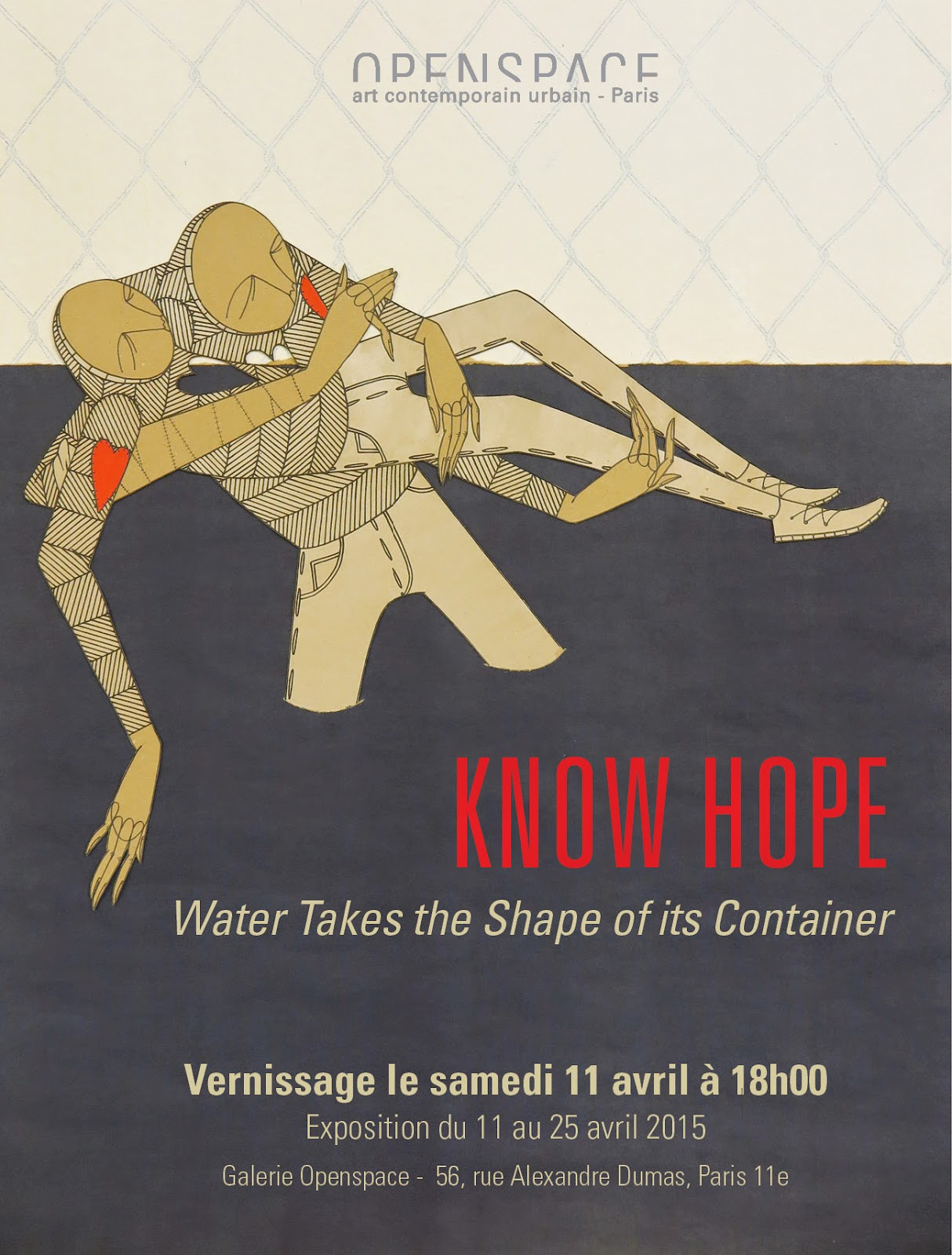 "Our friend Know Hope is getting ready to open his newest solo exhibition ""Water Takes the Shape of its Container"" at the Openspace gallery in Paris."