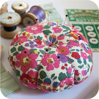Liberty Print Pincushion DIY Tutorial