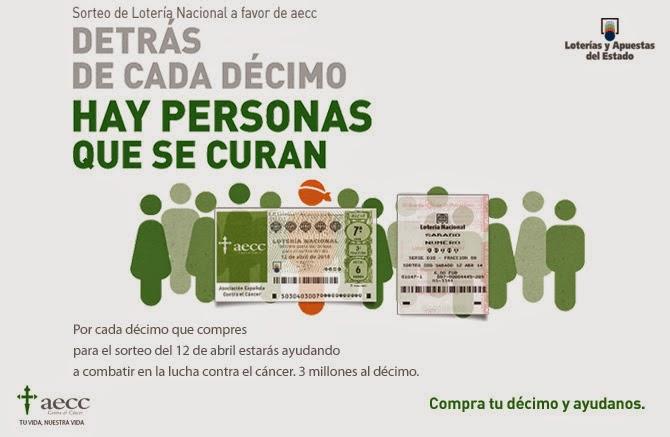 Sorteo de Lotería Nacional a favor de Asociación Española Contra el Cáncer
