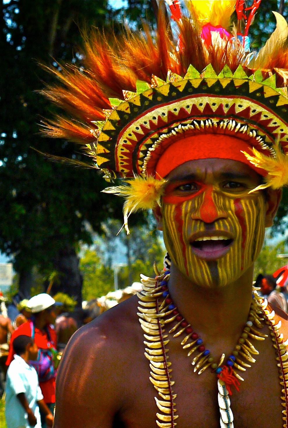 папуасы из Папуа-Новая Гвинея