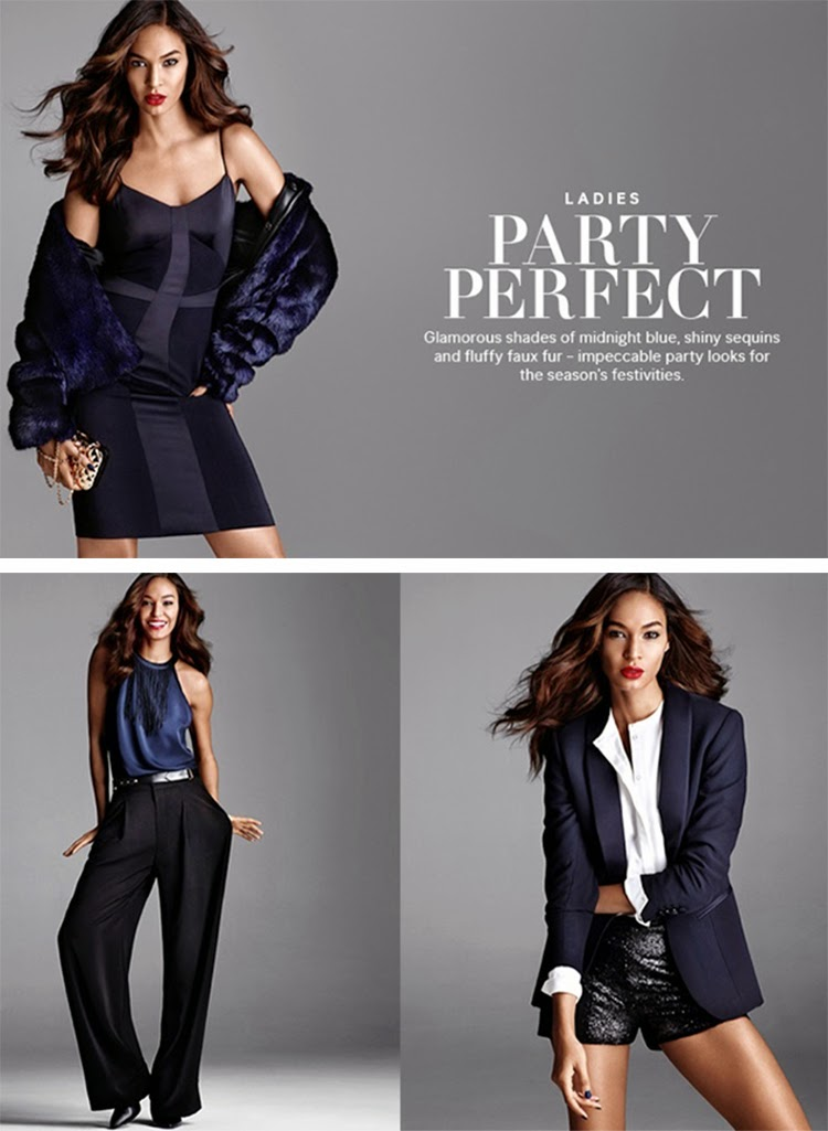 Joan Smalls Gets Glam in Party Looks from H&M Style Guide Holiday 2014