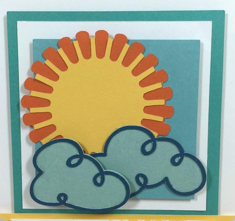 Cricut Sunshine card closeup