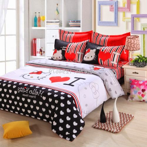 Hello Kitty Queen Size Bedding Set