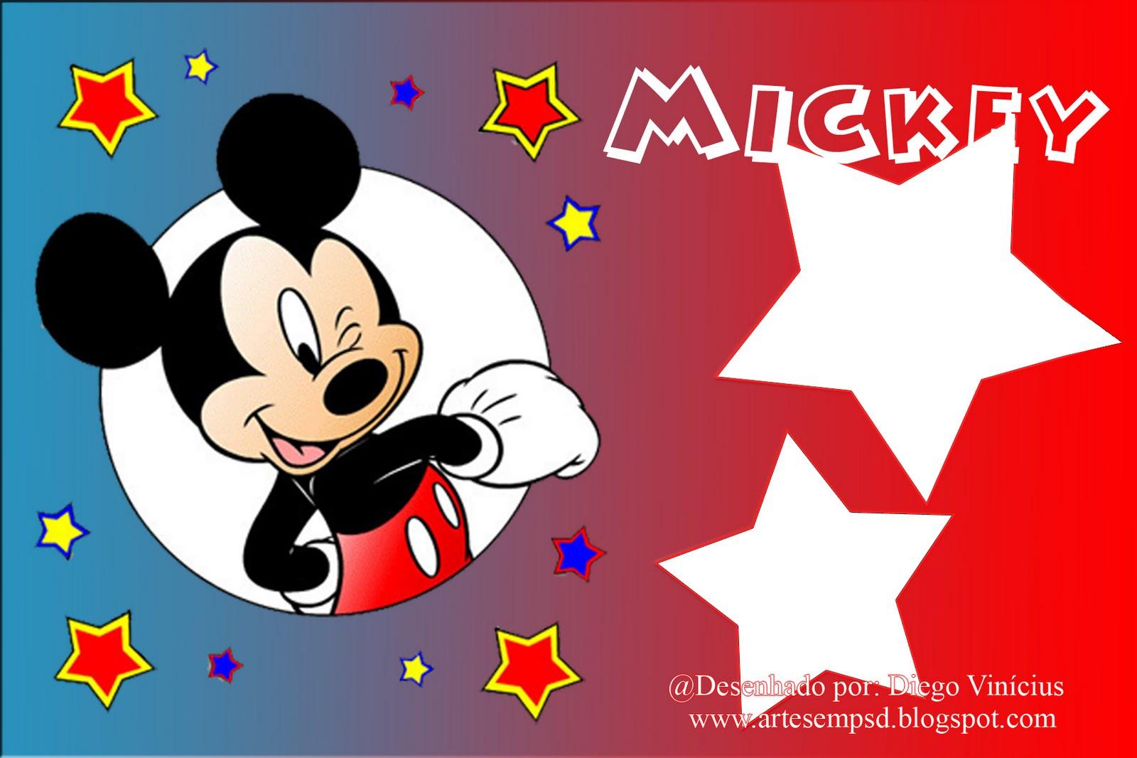 03 Molduras Do Mickey Mouse Em PNG