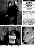 Pere Ponce y Paco Rabal, actores de De tal paco, tal astilla