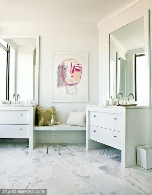 To da loos one of my favorite girly modern vanities for His and her bathroom vanities