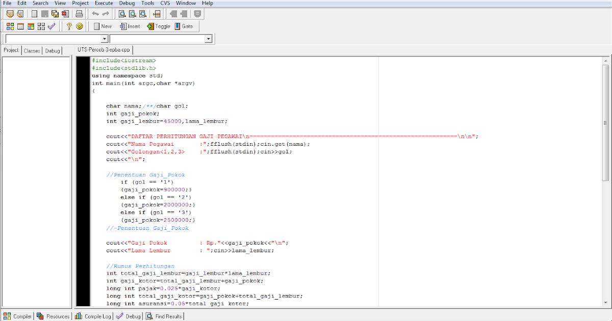 CARA MEMBUAT DAFTAR GAJI KARYAWAN DENGAN C++ ~ Sakinatul ...