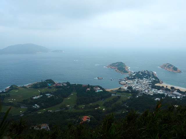 View of golf course & Shek O from Dragon's Back, Hong Kong Island