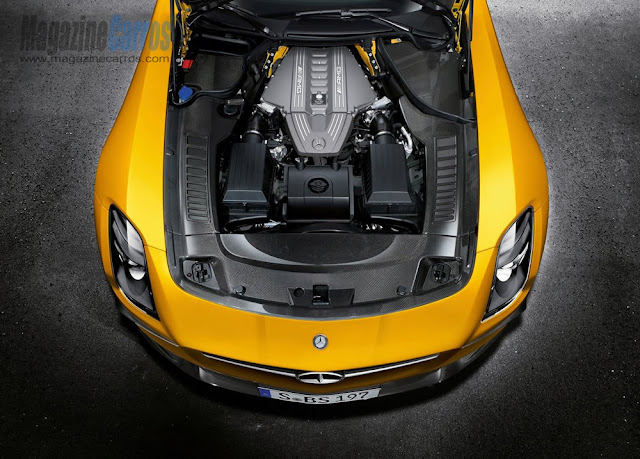Motor do novo Mercedes-Benz SLS AMG Black Series 2014