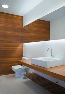Decoraci n de interiores decoracion de cuartos de ba o for Banos blancos y madera
