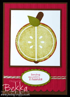 Mouthwatering Apple Thank You Card for a Teacher by Bekka www.feeling-crafty.co.uk