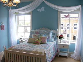cuarto para niña celeste