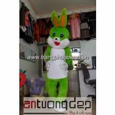 may mascot thỏ xanh