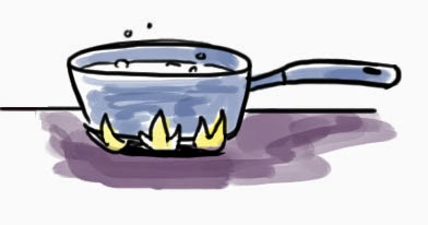 Ignoren las burbujas en el dibujo, NO debe estar hiviendo jajajaja.