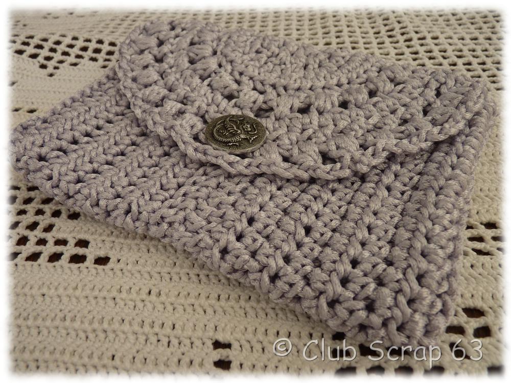 bienvenue sur club scrap 63 pochette festive en crochet. Black Bedroom Furniture Sets. Home Design Ideas