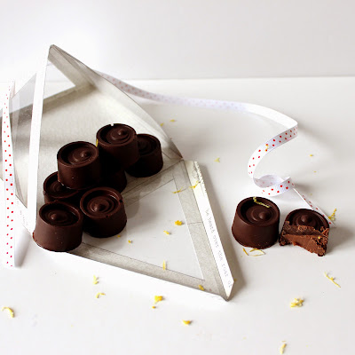 Illustration chocolat ganache miel - citron