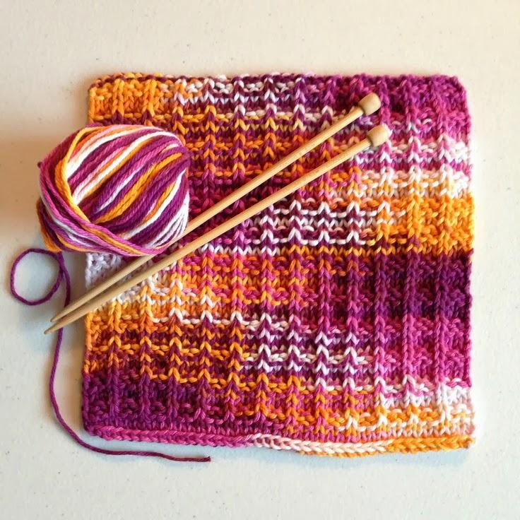 Knit Waffle Stitch Dishcloth : WhiMSy love: KNIT: Trio of Dishcloths