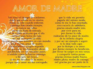 poema amor de madre