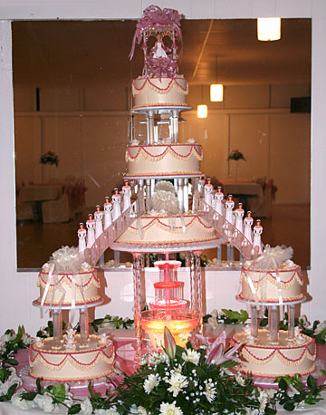 Cake Decorating Ideas For Quinceanera : Pink Quinceanera Cakes, Three-Tier Pink Pearl Flower ...