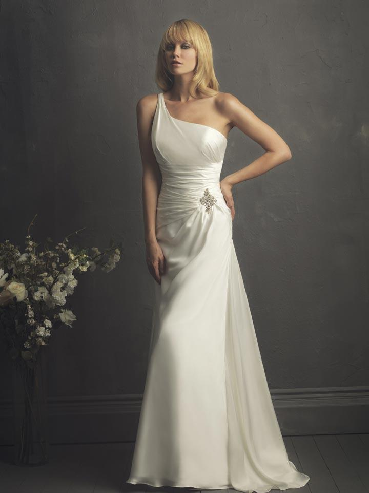 One Shoulder Wedding Dress February 2013
