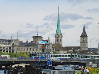 view of Zurich city from Zurich Lake