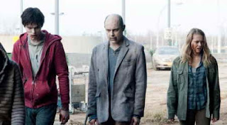 Nicholas Hoult, Rob Corddry and Teresa Palmer in Warm Bodies
