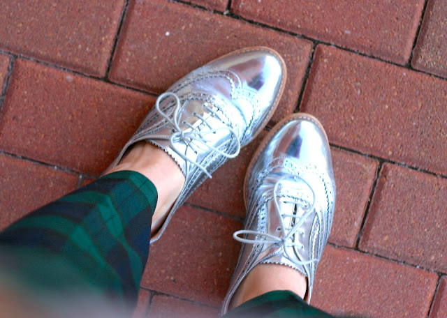 sam edelman metallic oxfords