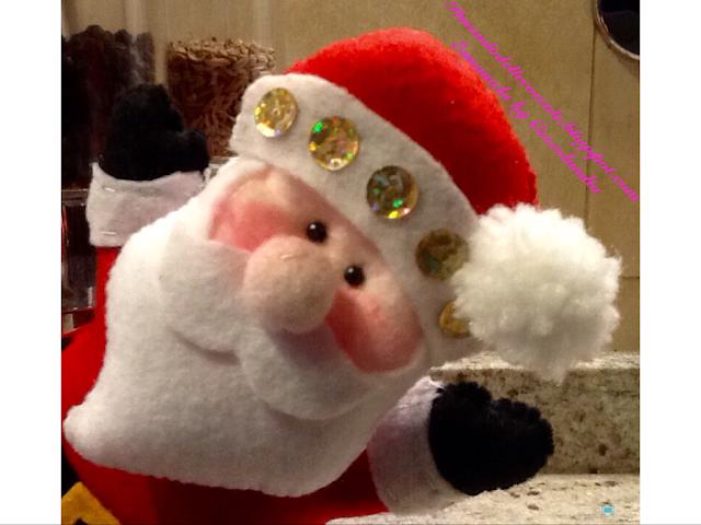Babbo Natale in feltro pannolenci addobbo per albero di Natale.