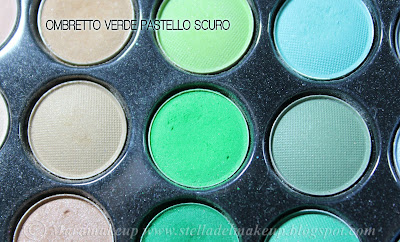 ombretto color verde pastello scuro