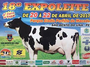 Fique ligado na Programação da 18ª ExpoLeite em São Bento do Una-PE