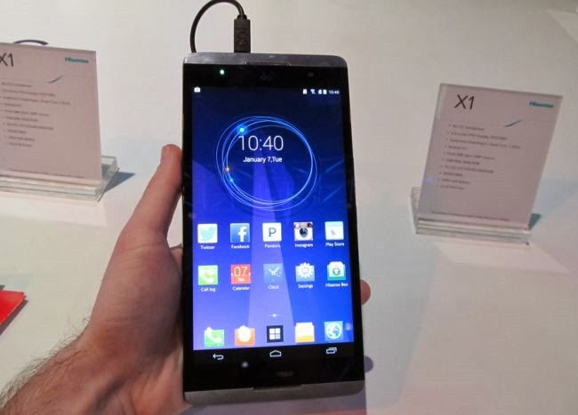 Hisense X1 6.8 inçlik Phableti CES 2014'te Duyurdu