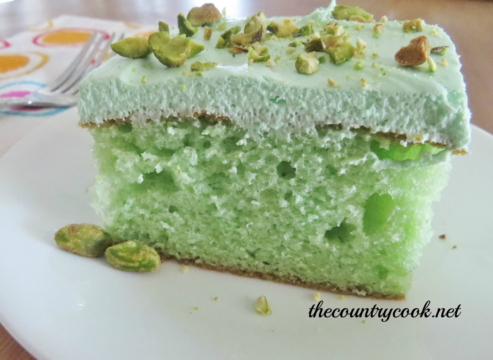 Pistachio Cake - The Country Cook