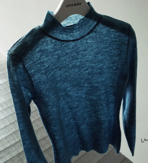 Slim Wool Mock Neck Top